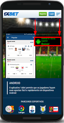 1xbet android baixar